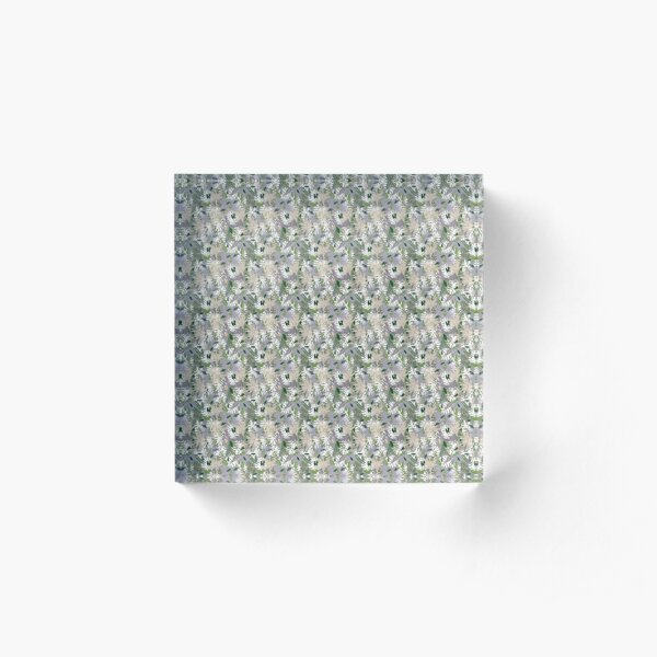 Whispy Botanicals Lavender Acrylic Block
