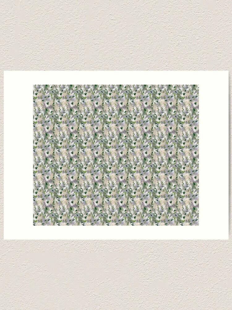 Alternate view of Whispy Botanicals Lavender Art Print