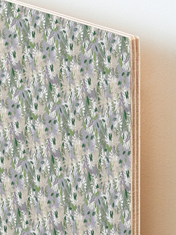 Alternate view of Whispy Botanicals Lavender Mounted Print
