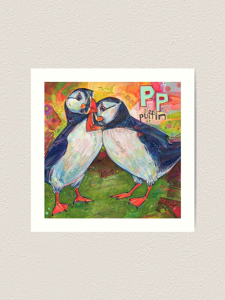Alternate view of P Is for Puffin - 2020 Art Print