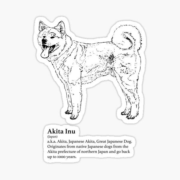 Akita Inu Sticker