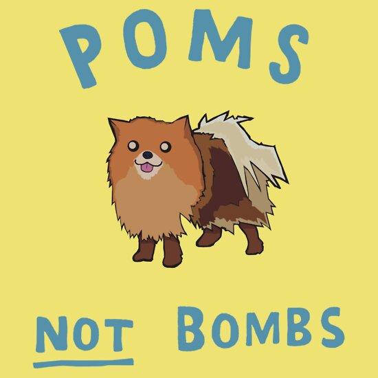 TShirtGifter presents: Poms, Not Bombs!