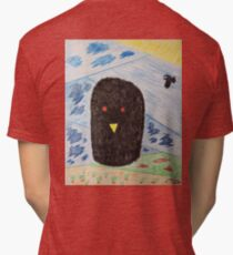 Bird Makes Fancy Self Portrait Tri-blend T-Shirt