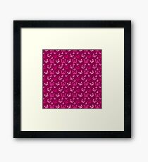 Breast Cancer Butterfly Ribbons Framed Print