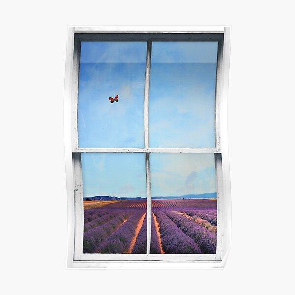 Window Art 4 - Lavender Field Poster