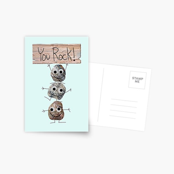 You Rock! Card or Gift Postcard