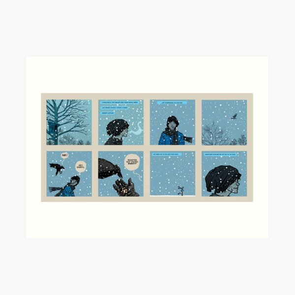 Sometimes We're Better Off Out In The Cold Art Print