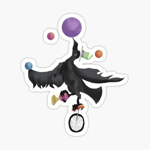 Circus Raven Glossy Sticker
