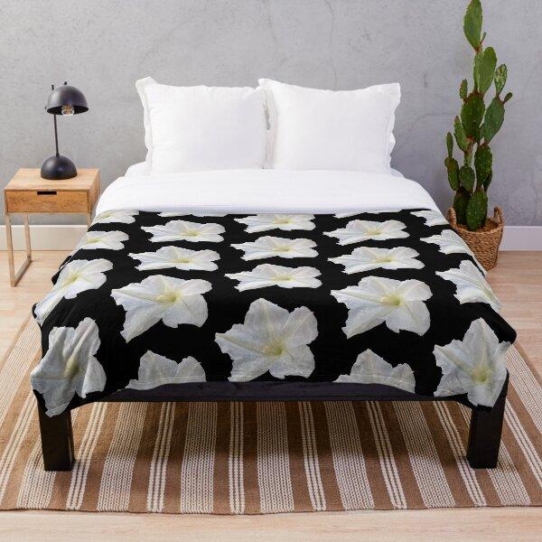 Moon Flower Throw Blanket