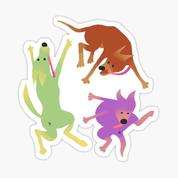 Dog dog woof woof arf Glossy Sticker