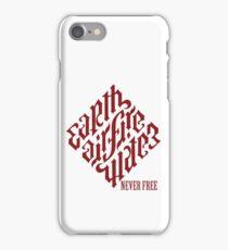 "Illuminati Diamond ""Never Free"" Tshirt iPhone Case/Skin"