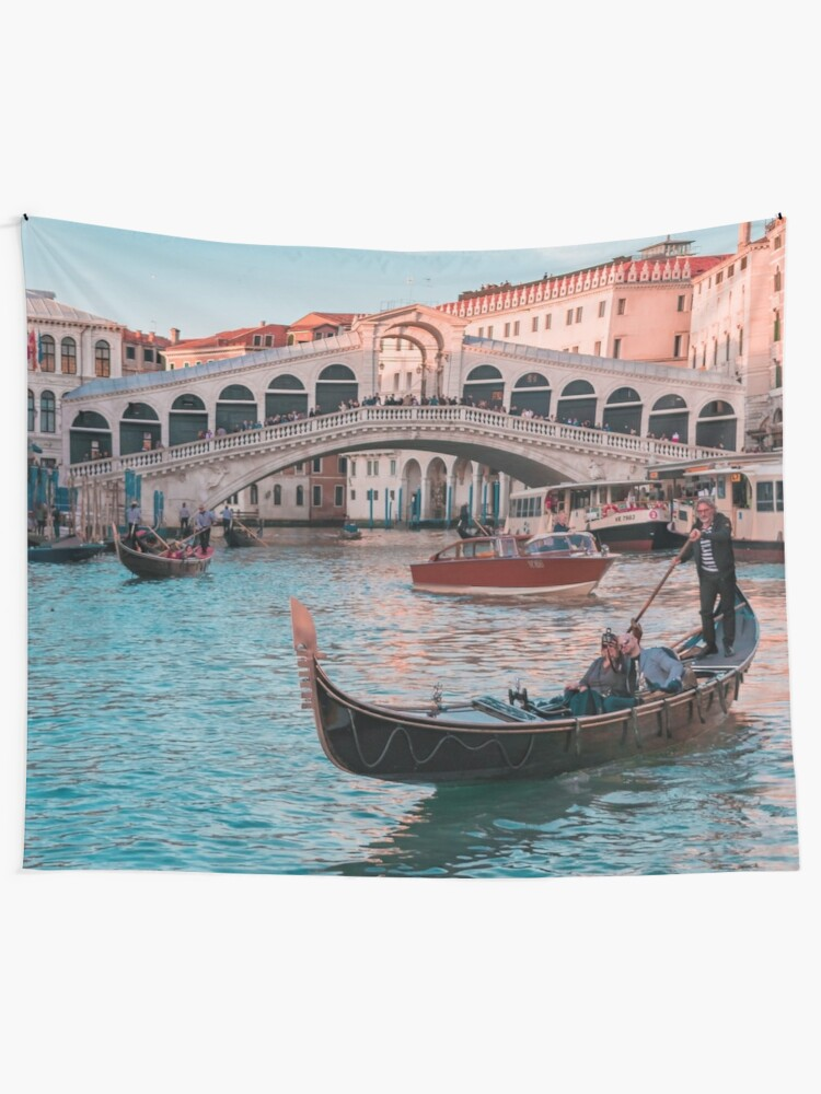 Romantic Gondola Boat Ride In Venice Italy At Sunset Tapestry By Mindchirp Redbubble