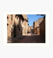 The Street Of Giovanni Boccaccio Art Print