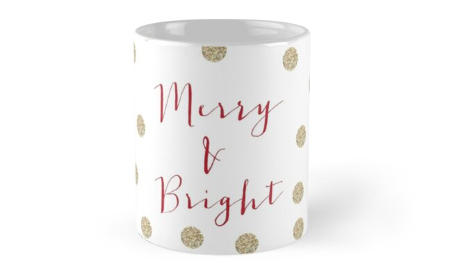 Glitter Merry and Bright Christmas by brightpaper