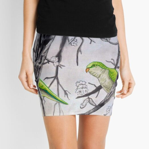 Stereogram challenge of Lorenzo the parakeet, Ibiza Mini Skirt