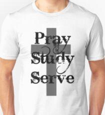 Pray Study Serve Unisex T-Shirt