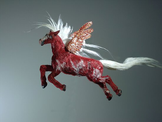 Red Pegasus by khsculpture