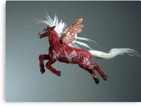 Red Pegasus by khsculpture