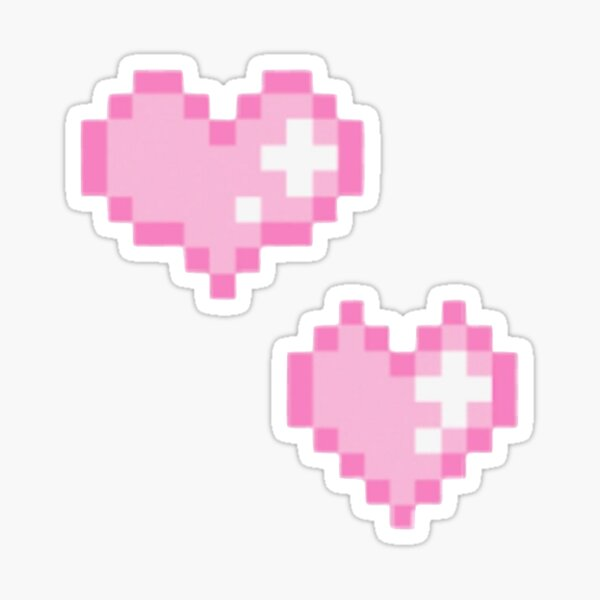 Pink Hearts Sticker