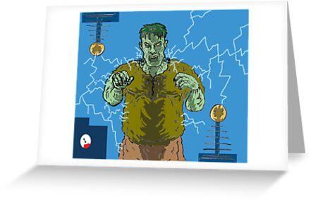 Frankenstein's monster gets the juice ! ( Frank's zapper ) by mattycarpets