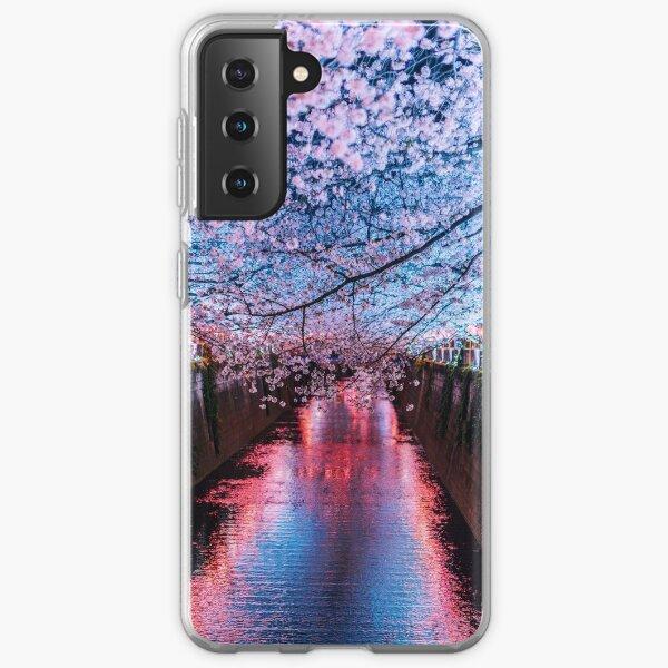 Tokyo - Meguro - Sous les cerisiers coule une rivière Coque souple Samsung Galaxy