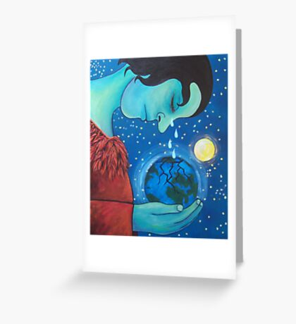 She weeps for us Greeting Card