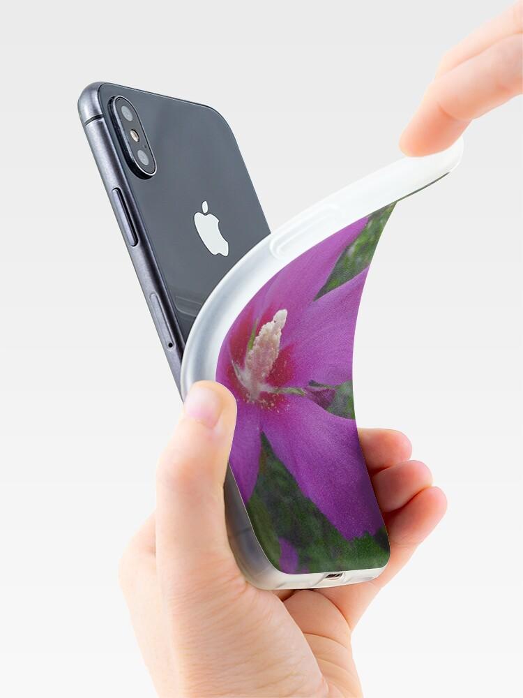 Alternate view of Purple Hibiscus iPhone Case & Cover