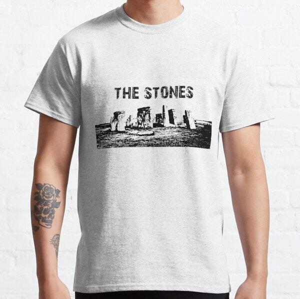 Stonehenge Black and White: The Stones text Classic T-Shirt