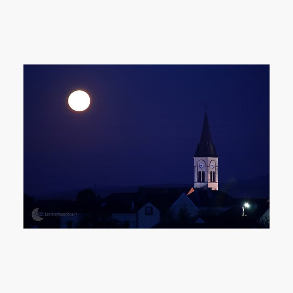 Pleine Lune en Champagne (France) Impression photo