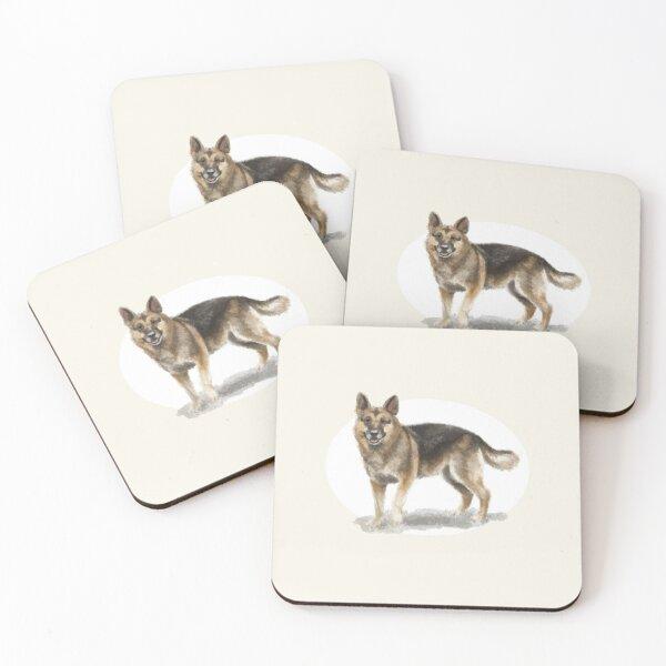German Shepherd Dog Coasters (Set of 4)