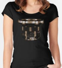 Retro Manual Focus Lens photographer Women's Fitted Scoop T-Shirt