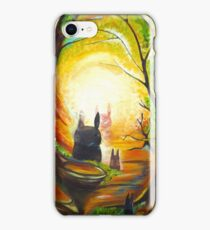 Totoro in the forest iPhone Case/Skin