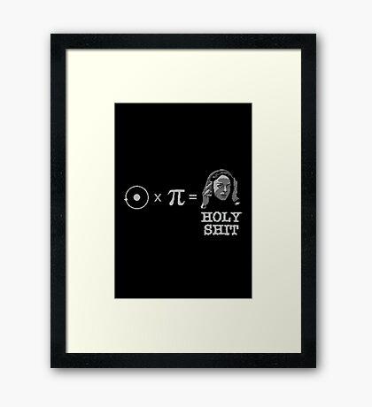 Hydrogen Times Pi Framed Print
