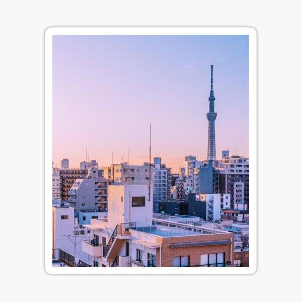 Tokyo Skytree au crepuscule Sticker