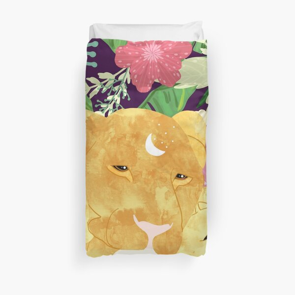 A Sincere Promise I Made To Myself, To Be Your Lioness When Things Are Messed #painting Duvet Cover