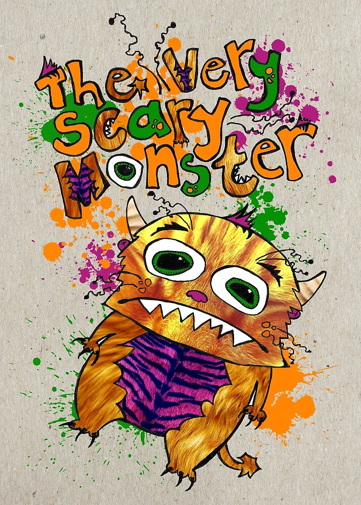 The very scary monster Small Poster by ScaryMonster