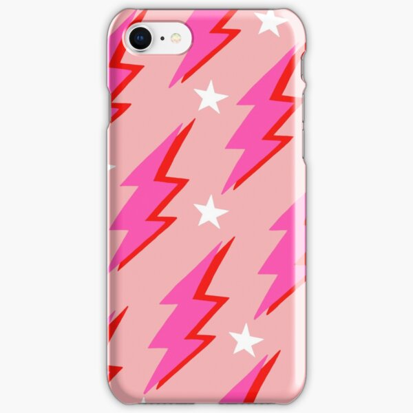 Pink Lightning Bolt iPhone Snap Case
