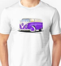VW Splitty (11 Window) Purple T-Shirt