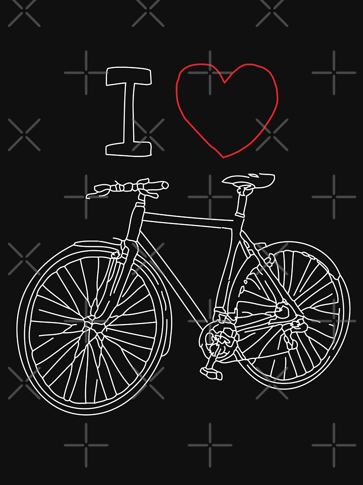 I HEART BIKE, Gift for her, Gift for him, Cycling shirty, Cycling gift by revolutionaus