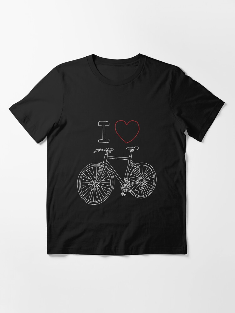 Alternate view of I HEART BIKE, Gift for her, Gift for him, Cycling shirty, Cycling gift Essential T-Shirt