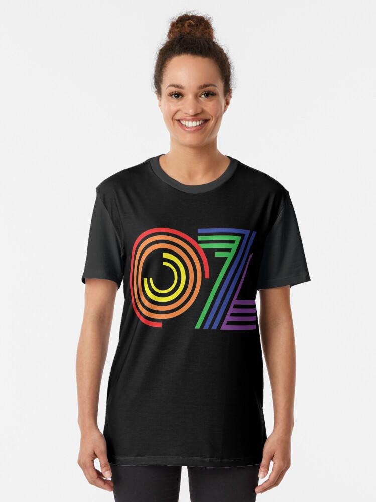 Alternate view of Australia, Aussie, OZ Rainbow Graphic T-Shirt