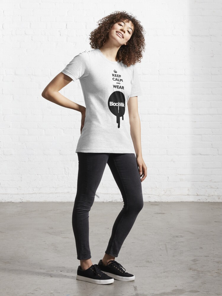 Alternate view of Keep Calm and Wear Black Milk Essential T-Shirt