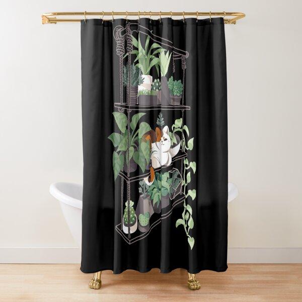 Cat on a shelf Shower Curtain