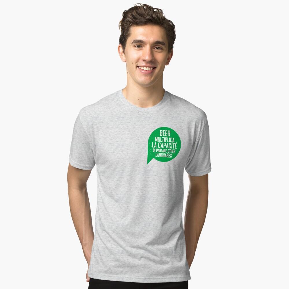 Funny shirt, St Patricks Day, Beer shirt Tri-blend T-Shirt