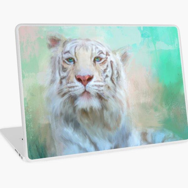 Sleek White Tiger Art Laptop Skin