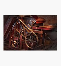 Steampunk - Gear - Belts and Wheels  Photographic Print
