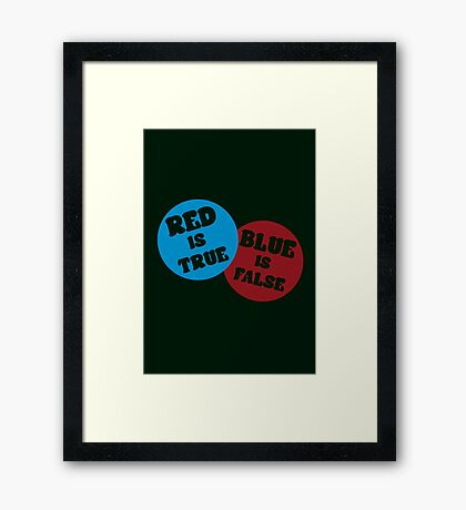 True or False (Dark Version) Framed Print