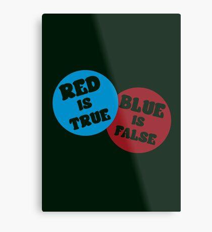 True or False (Dark Version) Metal Print