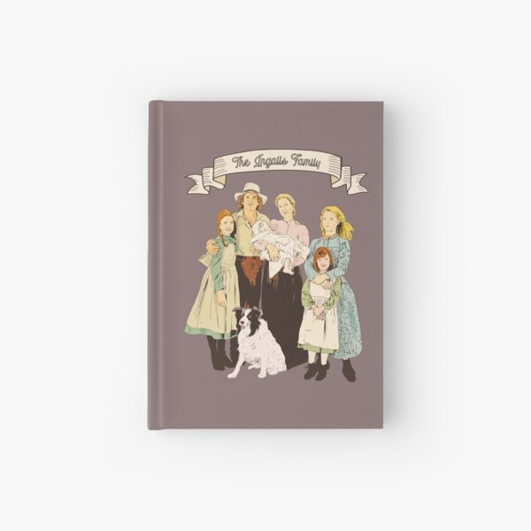 Colorful The Ingalls family in the Little house on the prairie Hardcover Journal