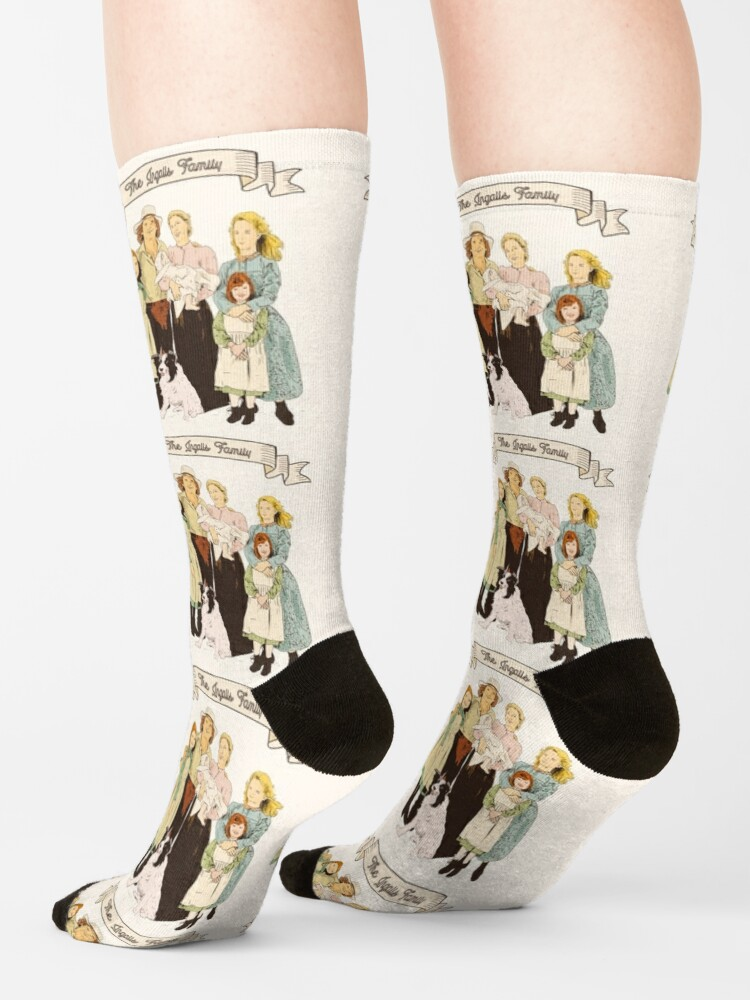 Alternate view of Colorful The Ingalls family in the Little house on the prairie Socks